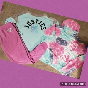 Justice hoodie,tee and joggers see description 14
